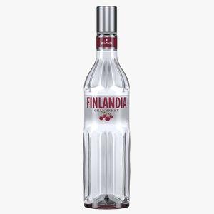finlandia cranberry vodka bottle 3D