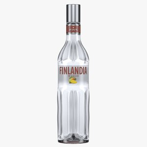3D finlandia mango vodka bottle model