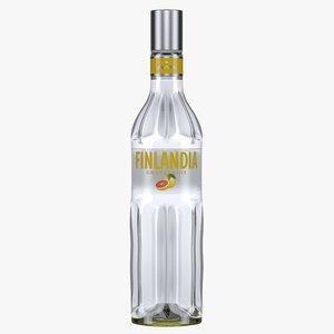 finlandia grapefruit vodka bottle model