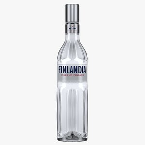 finlandia vodka bottle 3D