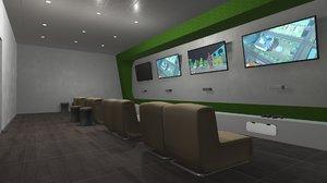games room - interior 3D model