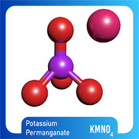 3D permanganate kmno4 potassium model