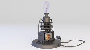 loft lamp steampunk 3D