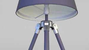 3D loft lamp floor model