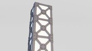 3D model loft lamp floor