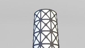 loft lamp floor 3D model