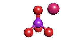 3D permanganate kmno4 potassium model