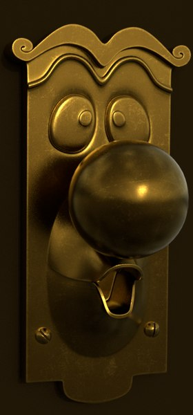 3D doorknob alice wonderland