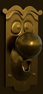 3D doorknob alice wonderland