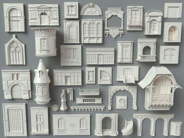 3D model building facade