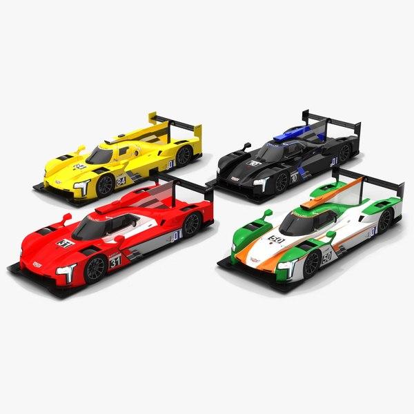 3D race car cadillac imsa model