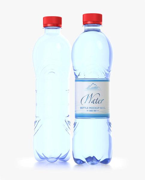 3D water bottle 50 cl model