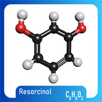 resorcinol molecule c6h6o2 3D model