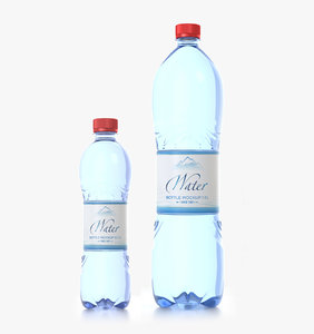 water bottle 50 cl 3D