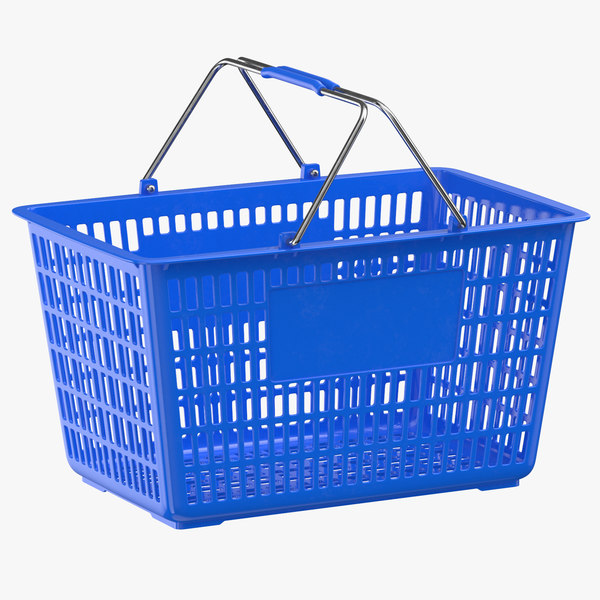 plastic shopping crate 01 model