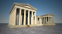 letoon apollon artemis temple 3D model