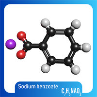 3D model sodium benzoate molecule c7h5nao2