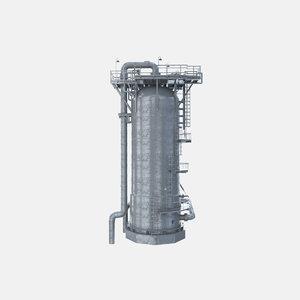 3D model oil gas adsorber