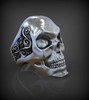 Ring skull model 3D print