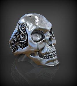 ring skull printing 3D