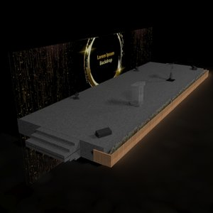 stage backdrop rostrum model