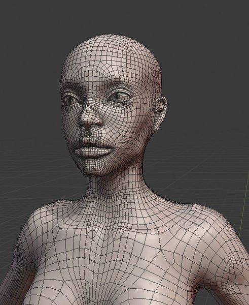 3D model naked woman