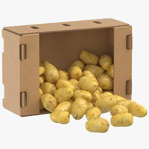 cardboard box 01 clean 3D model