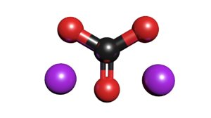 3D sodium carbonate molecule na2co3