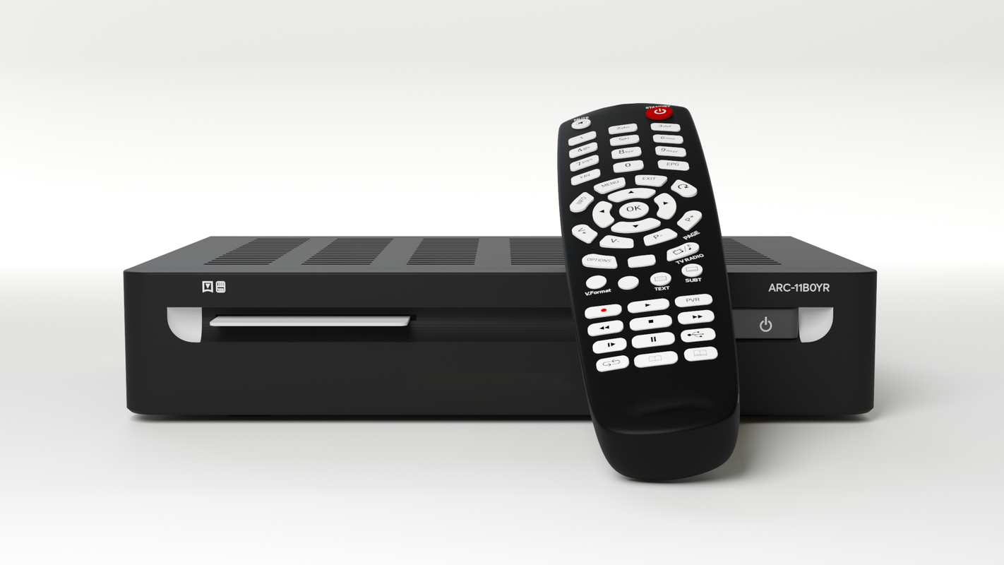 3D model receiver remote control tv