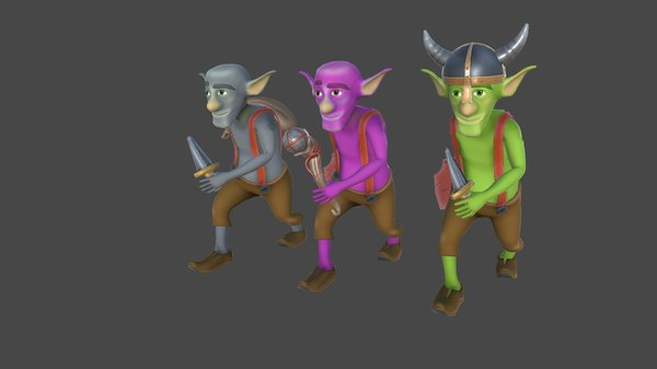 games goblin character 3D