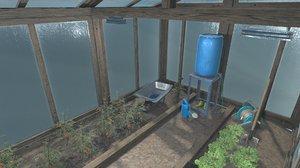 3D model greenhouse - interior props
