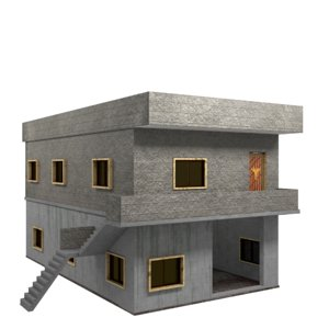 3D storey syrian house