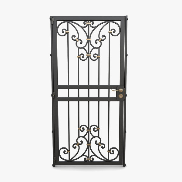 3D model wrought iron gate 12