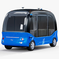 3D model self-driving bus baidu apolong