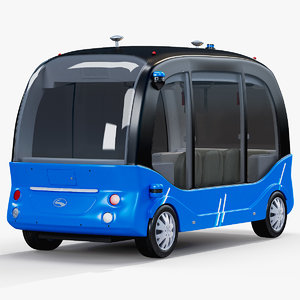 3D model self-driving bus baidu apolong