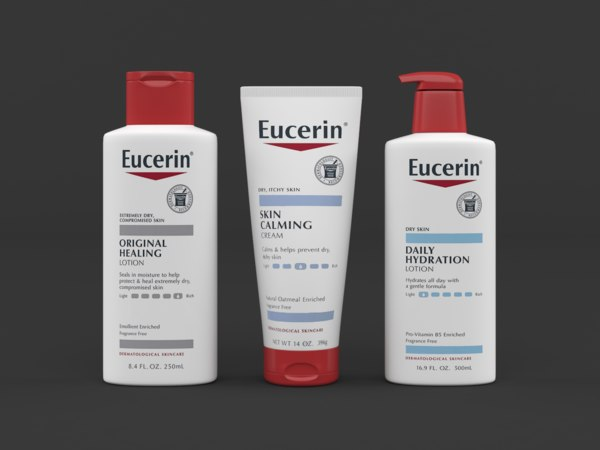 eucerin lotion cream set 3D model