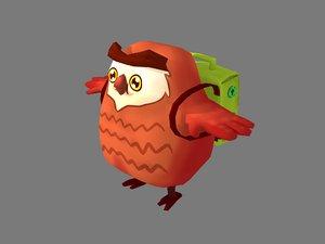 owl schoolbag 3D