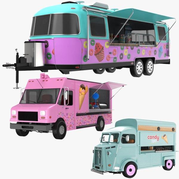 3D candy trucks