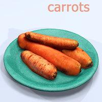 3D carrots