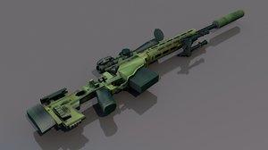 3D msr sniper rifles