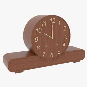 antique mantel clock 3D model