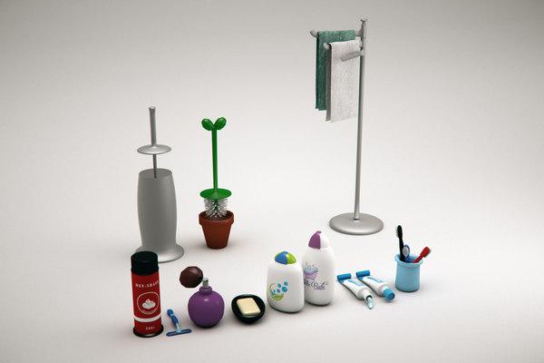 3D shaving soap toilette cartoon model