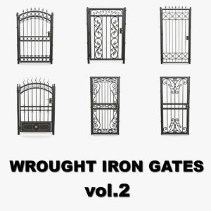wrought iron gates 3D model