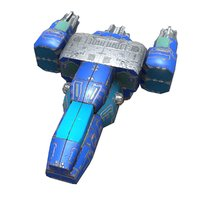 space scout ship 3D