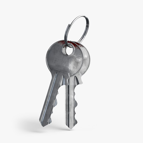 door key keychain 3D model