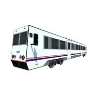 3D model subway train metro