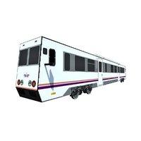 3D model subway train metro