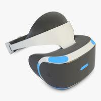3D sony playstation vr model