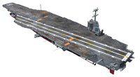 3D uss aircraft carrier model