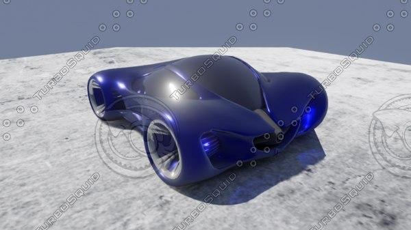 3D mercedes benz concept model